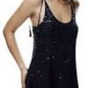 Free People 100% Silk Flowy Mini Dress